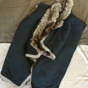 Mossimo Faux Fur Vest REVERSIBLE